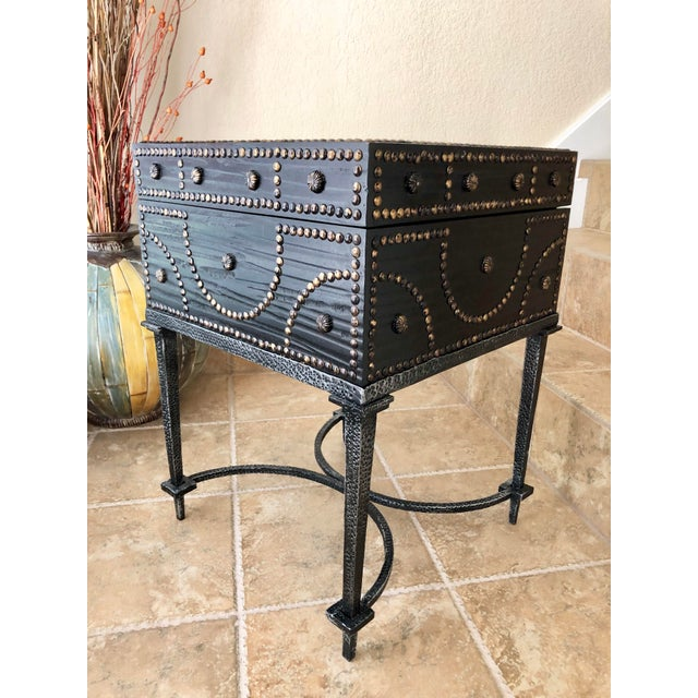 Boho Chic Document Box Accent Table From the Colonial Williamsburg Collection by Global Views For Sale - Image 3 of 13