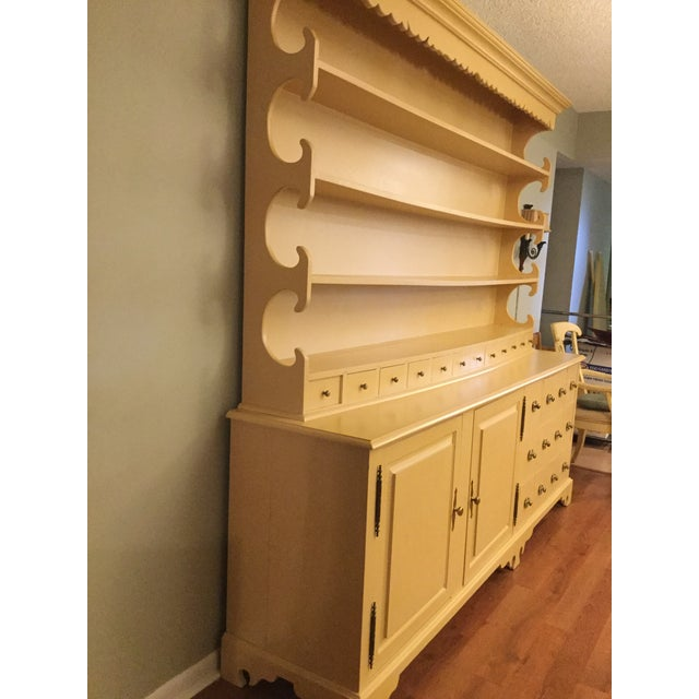 """Vintage Farmhouse """"Breakfront', """"Open Hutch Sideboard' For Sale - Image 10 of 13"""