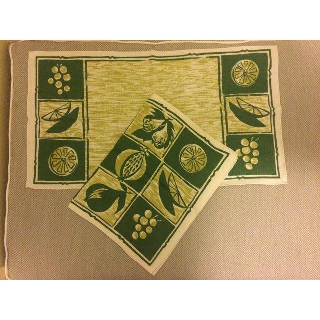 Vintage Linen Placemats & Napkins - Set of2 - Image 2 of 4