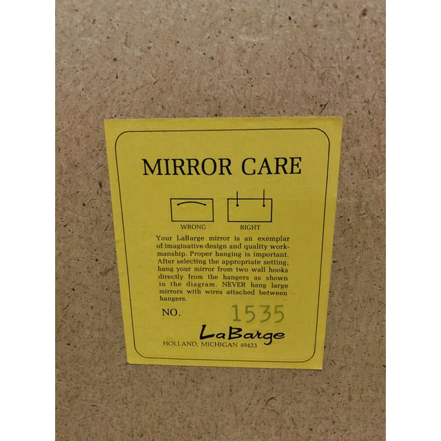 1970s LaBarge Chinese Chippendale Style Pagoda Mirror For Sale - Image 5 of 9