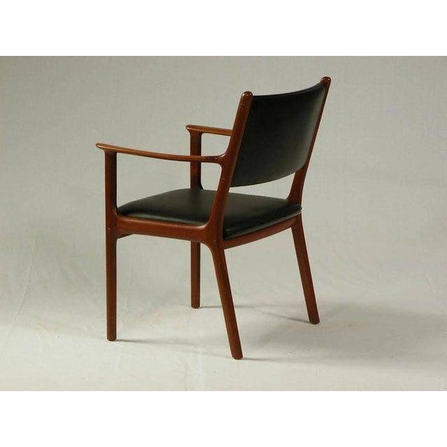 Danish Modern 1950s Ole Wanscher PJ 412 Mahogany Armchair For Sale - Image 3 of 7