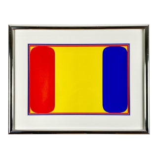 Three Color Ellsworth Kelly Lithograph for Frencd Art Magazine Derrière Le Miroir For Sale