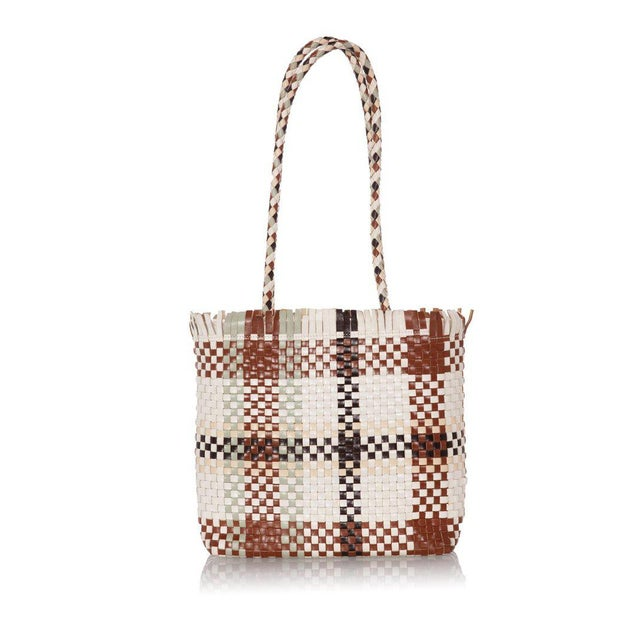 149888f405f0 Modern Salvatore Ferragamo Gancini Multicolor Woven Shoulder Bag For Sale -  Image 3 of 6