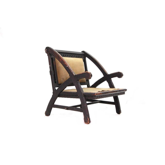 Exceedingly rare American Aesthetic Movement chair designed by Architect Henry Hobson Richardson. This chair is based on...