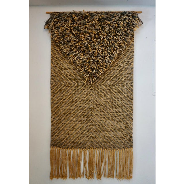 Brown 1970's Woven Tapestry by Eve Rabinowe For Sale - Image 8 of 8