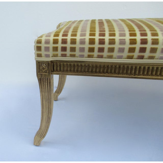 Gold Gilt French Empire Style Interior Crafts Bench For Sale - Image 8 of 13