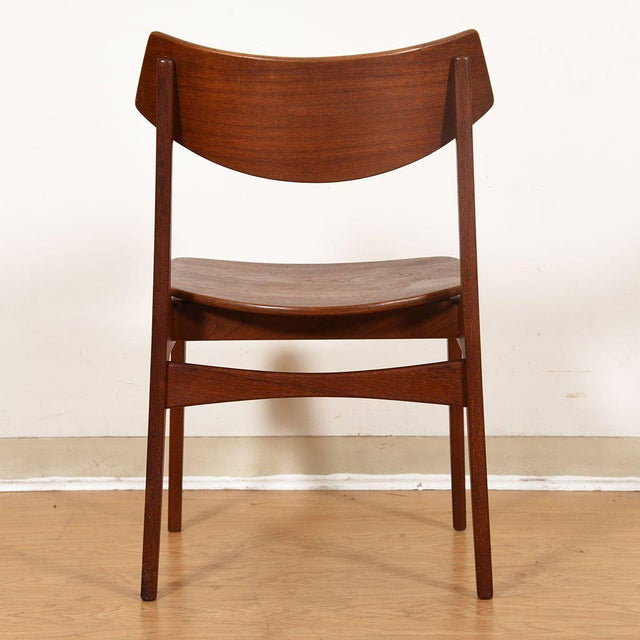 Danish Teak Curved Back Dining Chairs - Set of 4 For Sale - Image 9 of 13