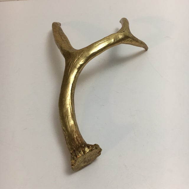 Painted Gold Sculptural Antler - Image 6 of 6