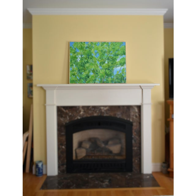 """Contemporary 2010s Contemporary Painting, """"Treetops Painting"""" by Stephen Remick For Sale - Image 3 of 12"""