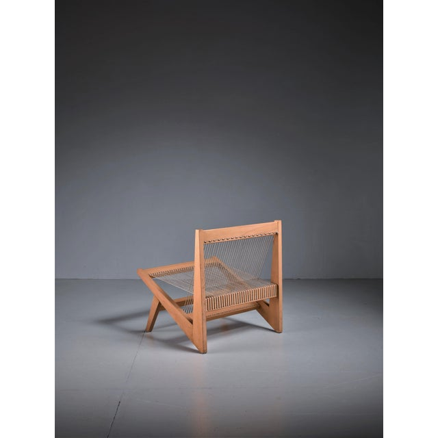 1950s Rope Sling Lounge Chair in the Manner of Albert Frey, USA, 1950s For Sale - Image 5 of 8