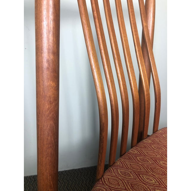 Late 20th Century Set of 8 Mid Century Modern Danish Teak Dining Chairs by Benny Linden Slat Back For Sale - Image 5 of 13
