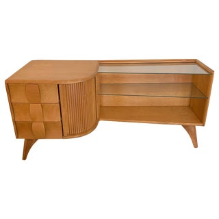 """Heywood Wakefield """"Sculptura"""" Asymmetric Low Cabinet or Credenza For Sale"""