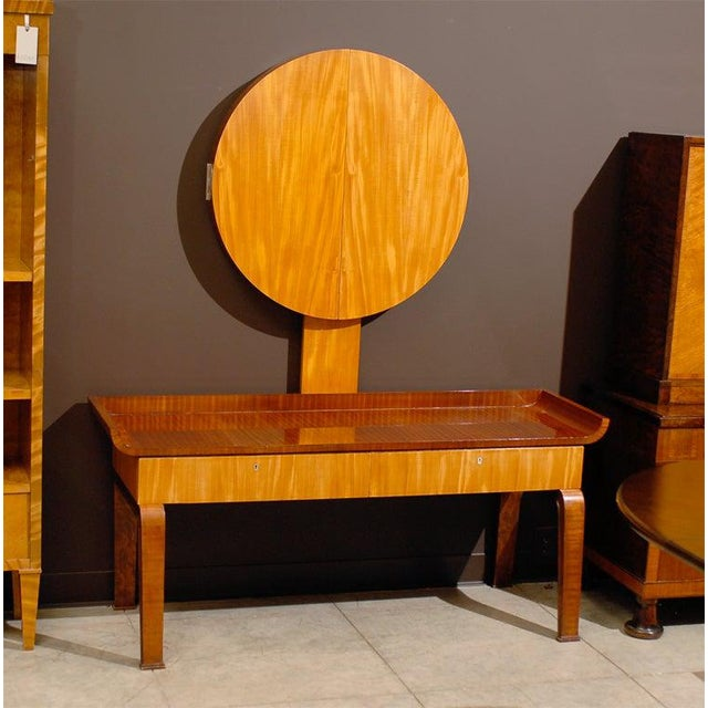 1930s Swedish Art Deco Moderne Dressing Table attributed to Boet For Sale - Image 5 of 11