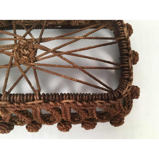 Nautical 19th Century Sailor Made Ropework Basket For Sale - Image 3 of 10