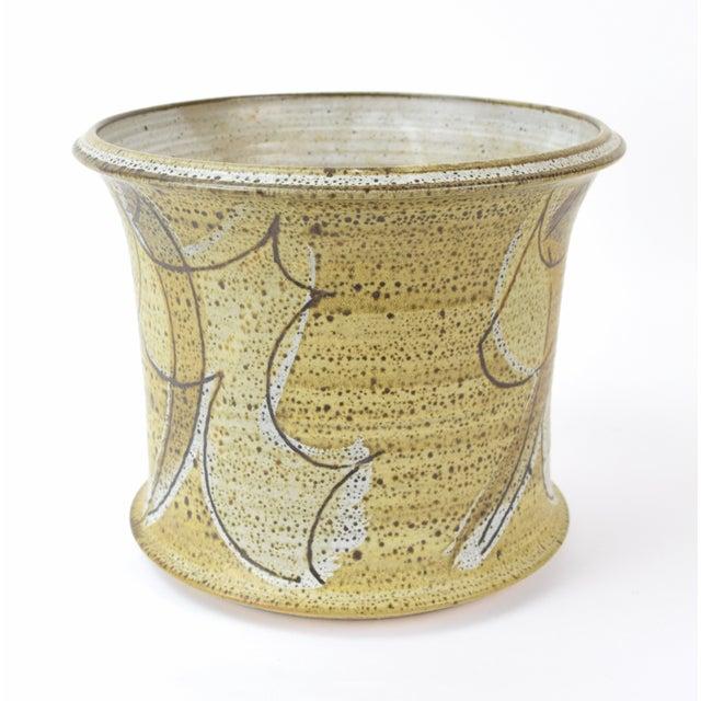 Ceramic Vintage Alan Vigland Mid Century Modern Studio Pottery Vase For Sale - Image 7 of 11