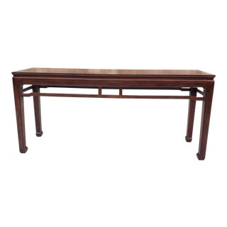 Herendon Fine Furniture Mahagony Chippendale Style Console Table For Sale
