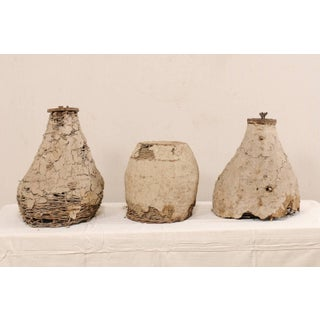 Mid-20th Century French Bee-Hive or Skeps of Handwoven Cane and Mud - Set of 3 Preview