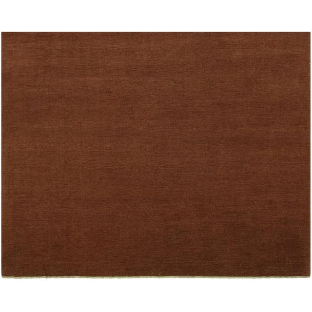 """Over Dyed Color Reform Cordelia Brown Wool Rug - 9'0"""" x 11'10"""" For Sale - Image 4 of 8"""