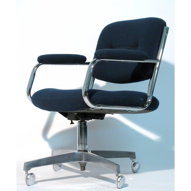 Chromcraft Rolling Swivel Armchairs - A Pair - Image 8 of 9