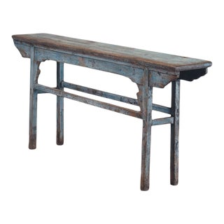 Vintage Chinese Painted Pine Altar/Console Table For Sale