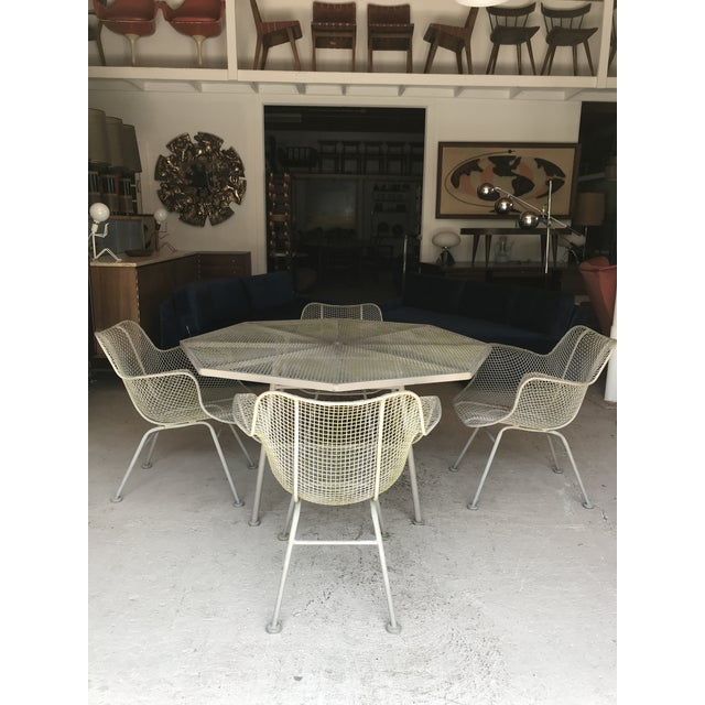 Russell Woodard Sculptura Dining Table Chairs New Cushions