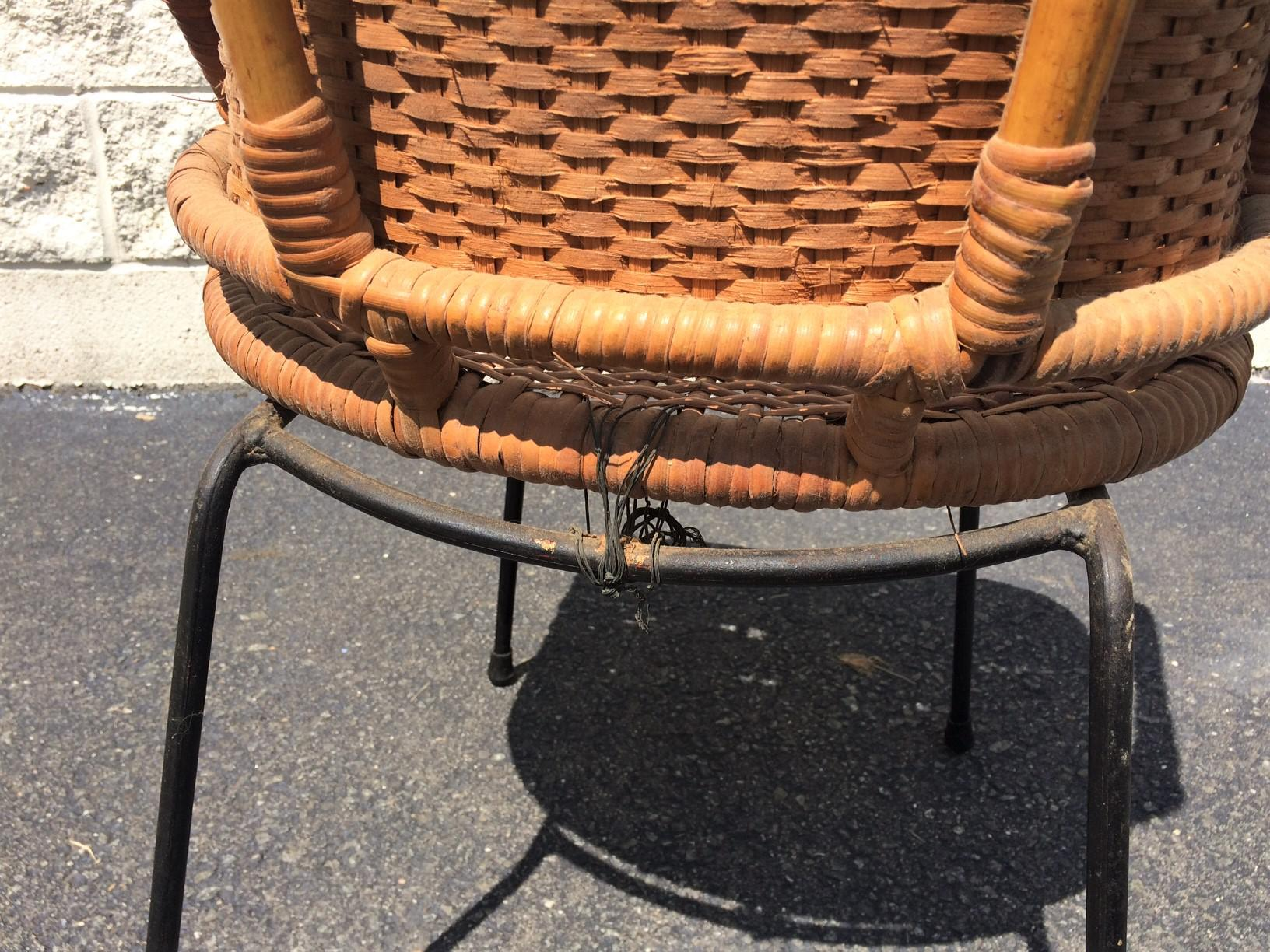 Superb Calif Asia Mid Century Rattan Chair   Image 8 Of 8
