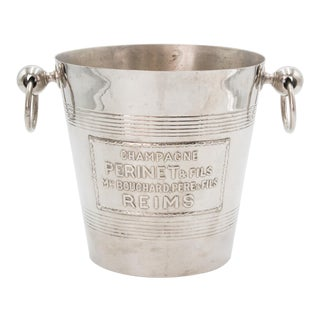 Mid-Century French Silver Plate Champagne Bucket For Sale