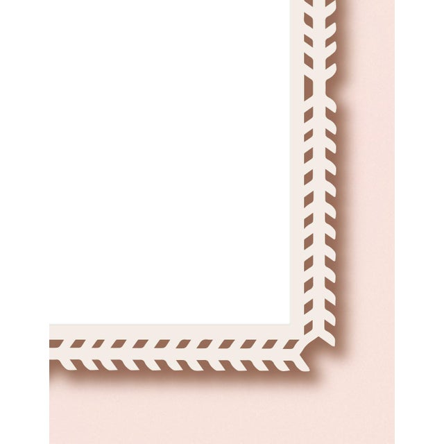 Contemporary Fleur Home x Chairish Toulouse Trellis Mirror in Pink Punch, 24x24 For Sale - Image 3 of 4