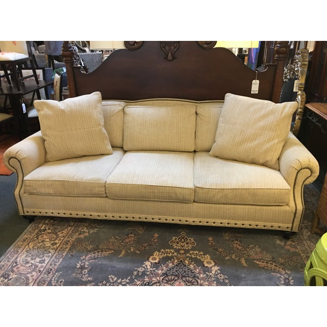 Design Plus Gallery presents an exceptional beauty by Ralph Lauren Home. A gentle curved back is only one of the many...