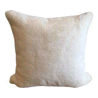 Polar White Faux Fur Pillow For Sale