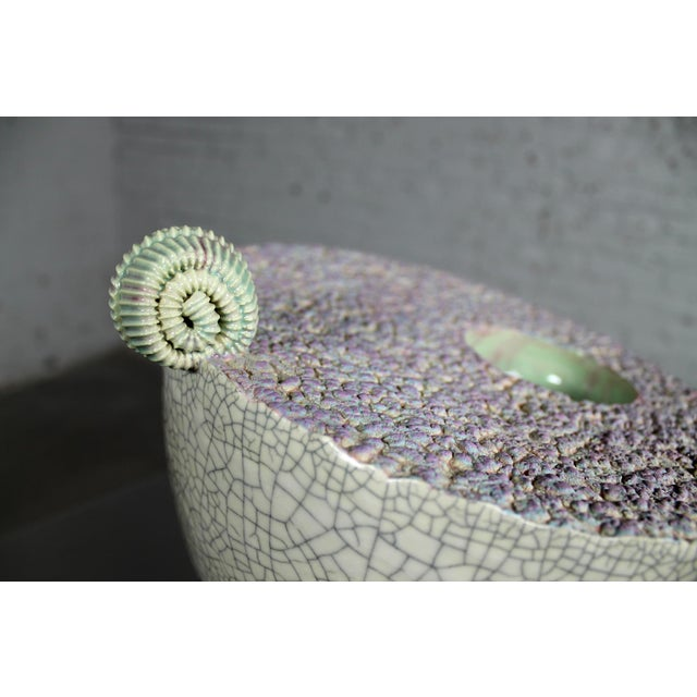 Sea Green Ceramic Sculpture by Martin Bleyer - Image 7 of 11