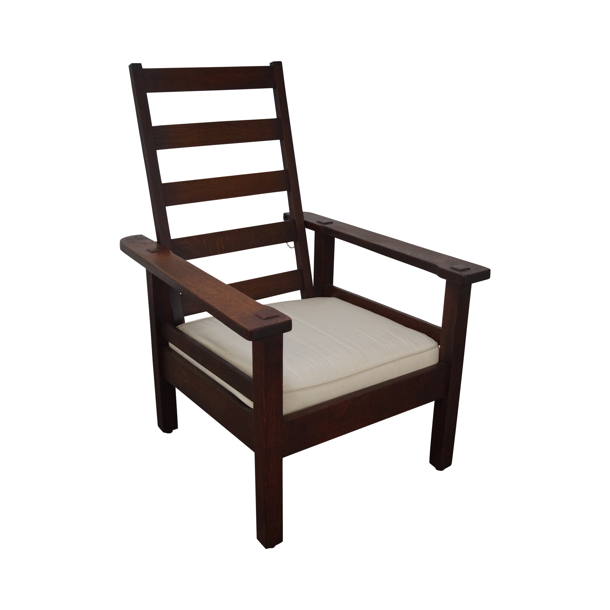 Mission Oak Reclining Morris Chair By Stickley