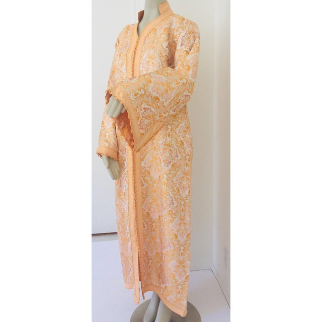 Moroccan Caftan in Gold Brocade For Sale - Image 4 of 13