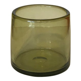 1959 Vintage Holmegaard Per Lutken Danish Mid Century Glass Vase For Sale