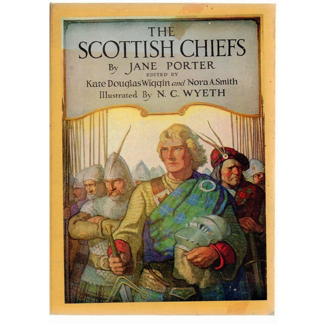 """Booth & Williams 1956 """"The Scottish Chiefs, Illus by N. C. Wyeth"""" Collectible Book For Sale - Image 4 of 4"""