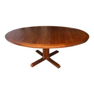 Vintage Mid-Century Danish Modern Expandable Dining Table by Skovby Mobelfabrik Denmark For Sale