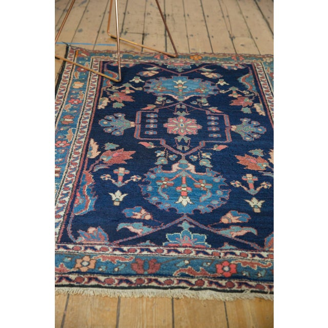 "Textile Vintage Baktiari Rug - 4'1"" X 5'11"" For Sale - Image 7 of 13"