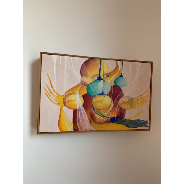 1990s Magical Realist Contemporary Painting For Sale - Image 4 of 6