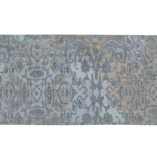 This rug is great for a high traffic hallway. It is hand-knotted. Made in India. Fine wool. Great neutral coloring with...