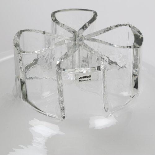 """1970s BARBINI ITALIAN GLASS """"QUATTO FORI"""" VASE, CIRCA 1970S For Sale - Image 5 of 7"""