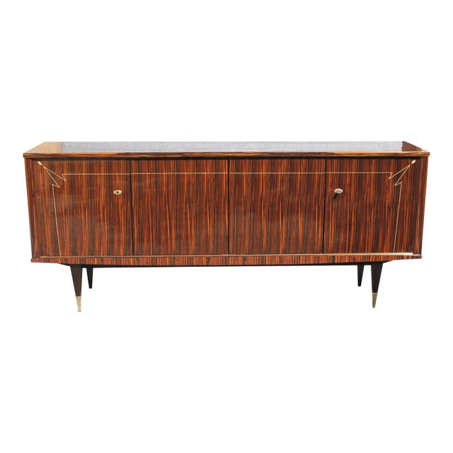 1940s French Art Deco Macassar Ebony Sideboard/Buffet For Sale - Image 13 of 13