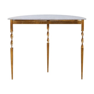 Marble Demilune Console Table Preview