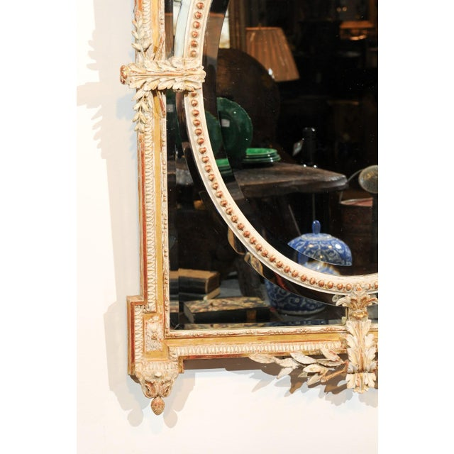 Wood French Louis XVI Style 19th Century Pareclose Mirror with Liberal Arts Symbols For Sale - Image 7 of 13