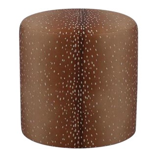 Drum Ottoman in Antelope For Sale