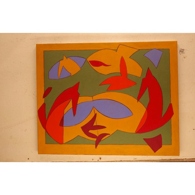 Abstract Painting Recess IV by James Mitchell Clark For Sale - Image 4 of 4