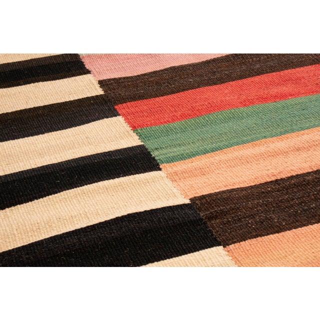 Tribal Vintage Geometric Wool Kilim Rug - 8′4″ × 10′2″ For Sale - Image 3 of 6