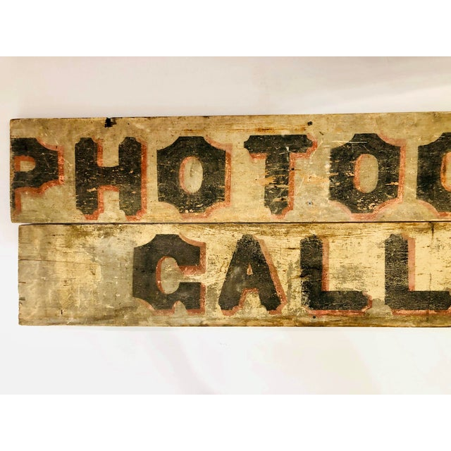 Late 1800s Photography Trade Sign For Sale - Image 4 of 10