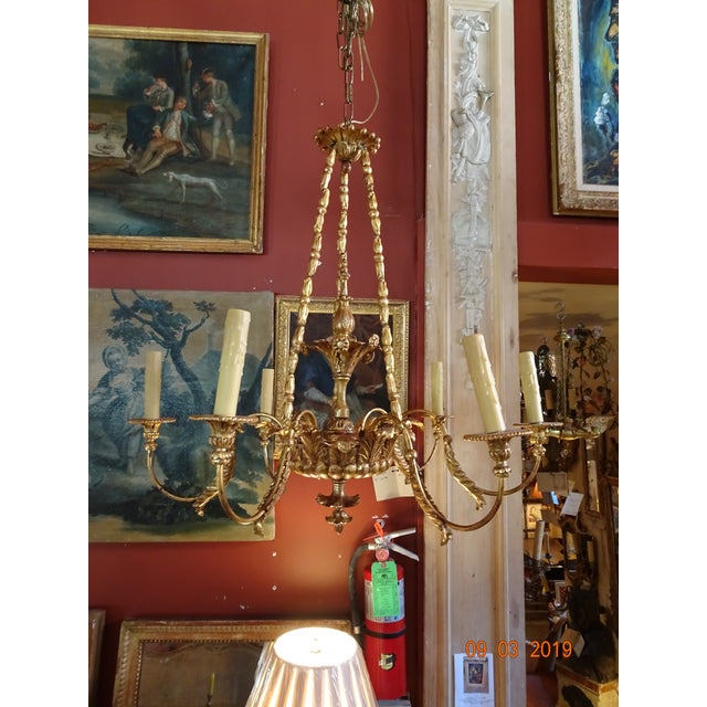 19th Century Italian Gilt Wood Chandelier For Sale - Image 13 of 13