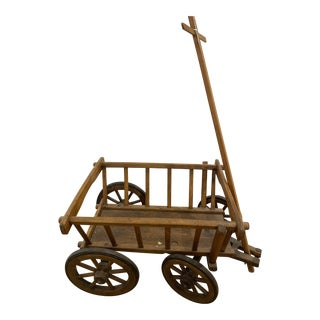 Vintage French Wooden Cart For Sale
