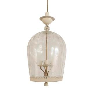 Italian Mid-Century Glass Dome Lantern For Sale